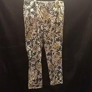 Liz Claiborne , floral pants, straight leg. Sz 12